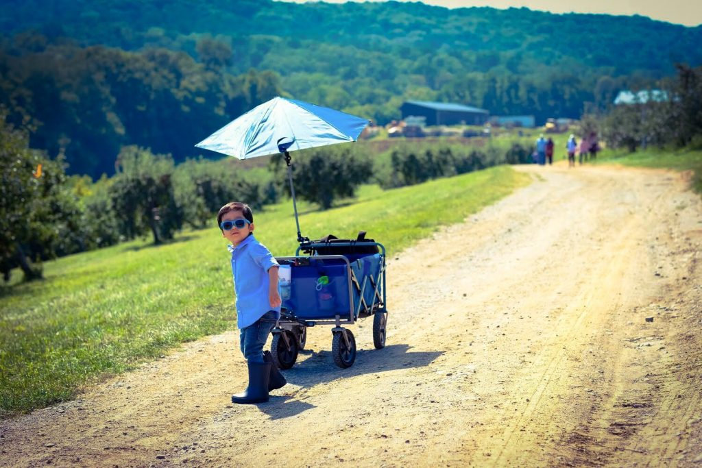 Pulling the DIY Kid Utility Wagon