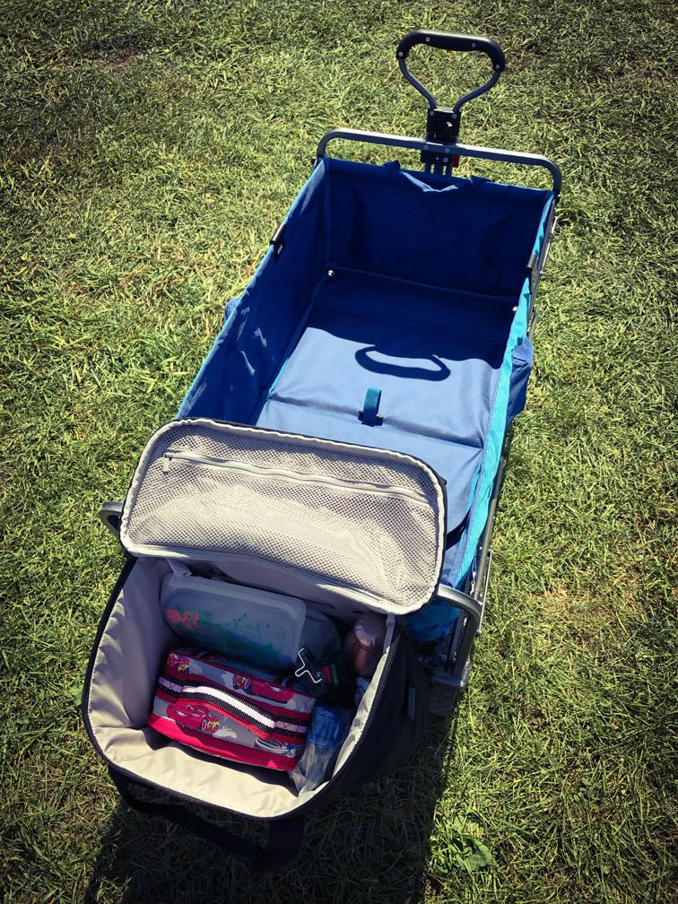 DIY Kid Utility Wagon Mods - Extra storage bag