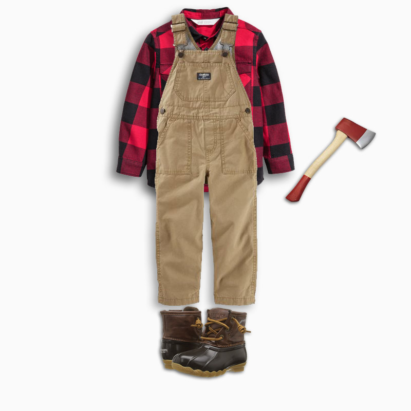 Last Minute Halloween Costumes for Toddlers - Lumberjack