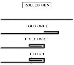 Sew Rolled Hem - DIY