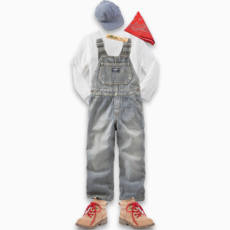 Last Minute Halloween Costumes for Toddlers - Train Engineer