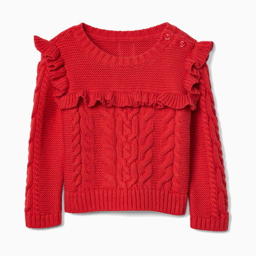 Gap Cable knit ruffle sweater