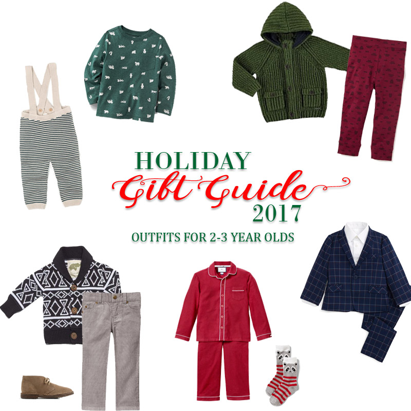 2017 Holiday Gift Guide - Outfits for 2 Year Olds to 3 Year Olds for Him