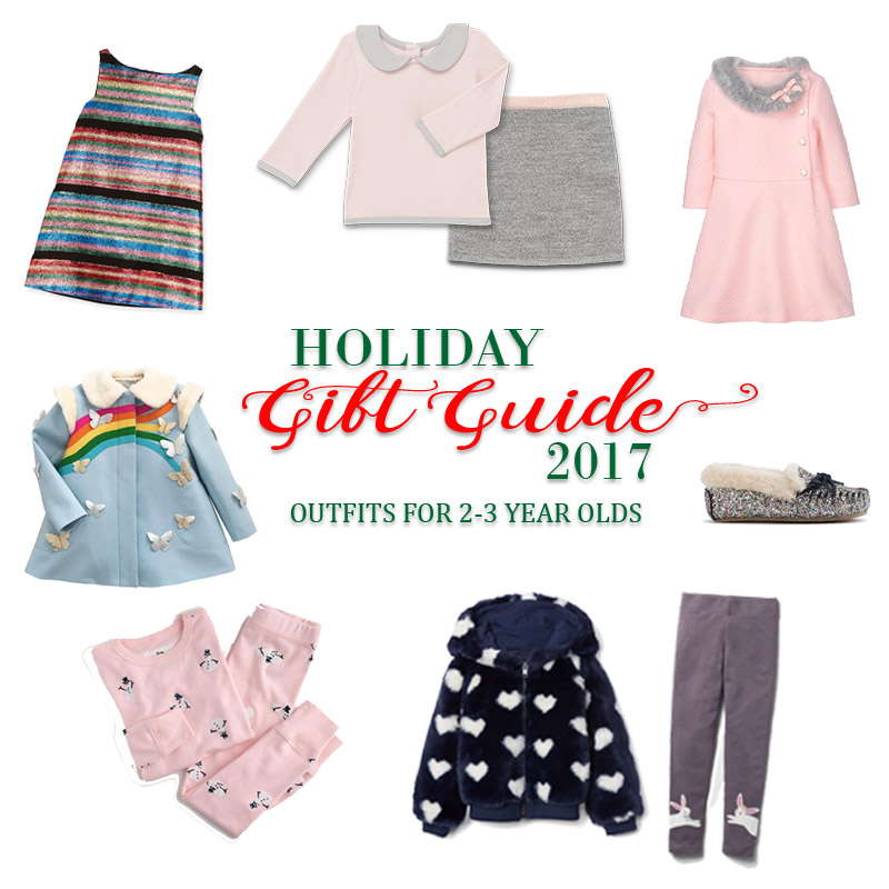 2017 Holiday Gift Guide - Outfits for 2 Year Olds to 3 Year Olds for Her