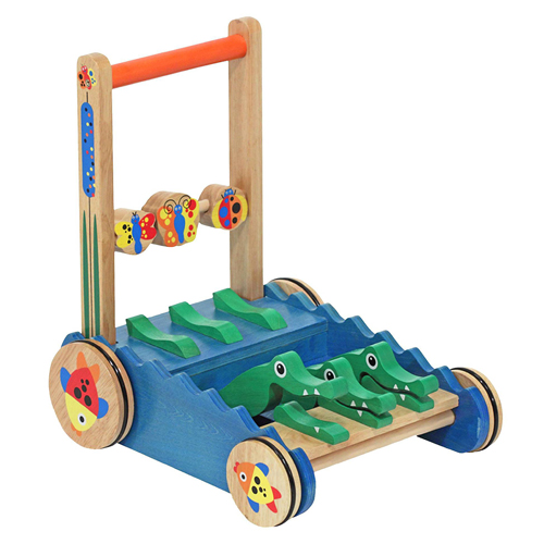 Melissa & Doug® Deluxe Chomp and Clack Alligator Wooden Push Toy and Activity Walker