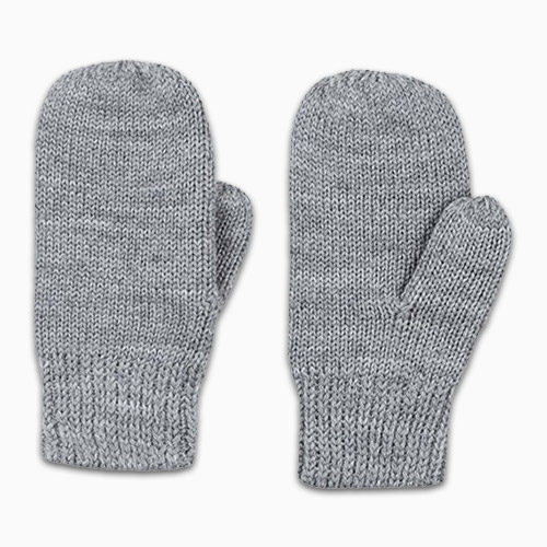 Polarn O. Pyret Gray Wool Mittens