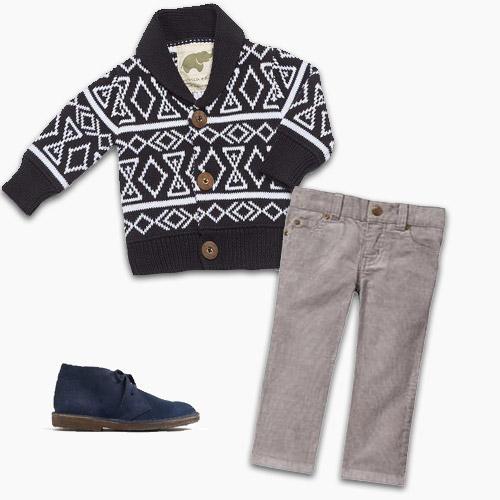 Cardigan Boots Corduroy Pants