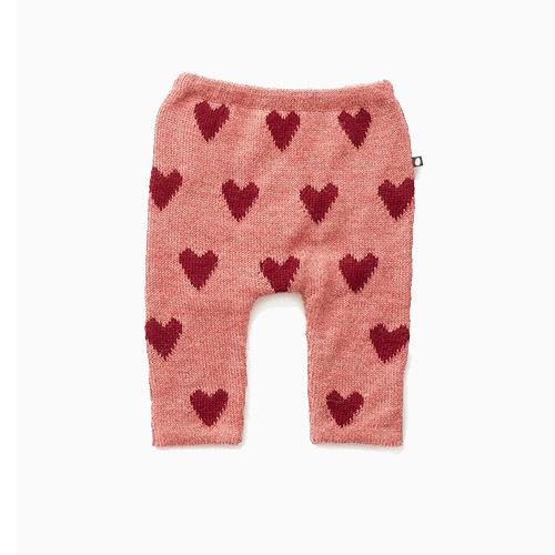 Oeuf Hammer Pants-Rose/Red Hearts