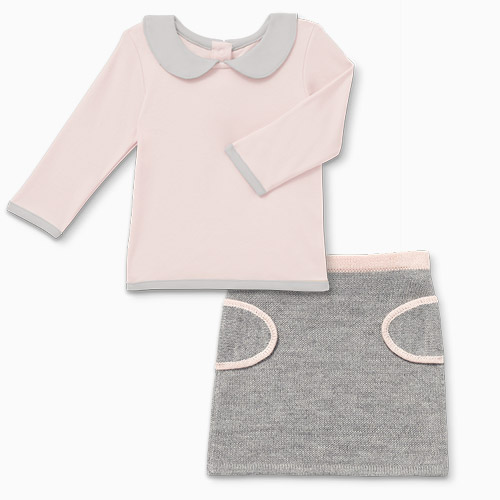 Sasha And Lucca Peach Outfit Skirt And Top