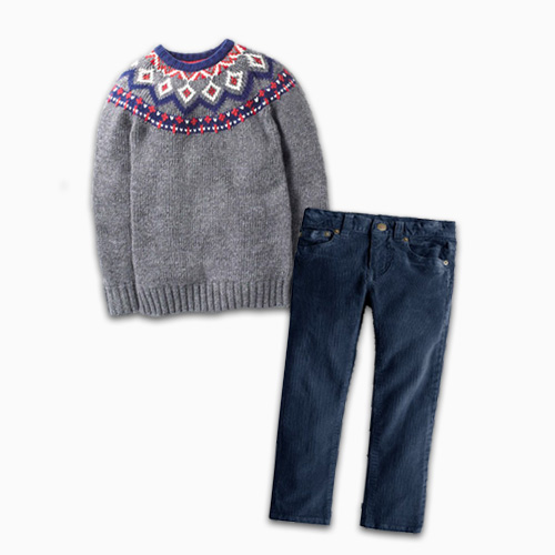 Boden Chunky Fair Isle Crew Sweater