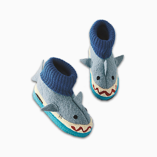 Garnet Hill Boiled Wool Shark Slippers