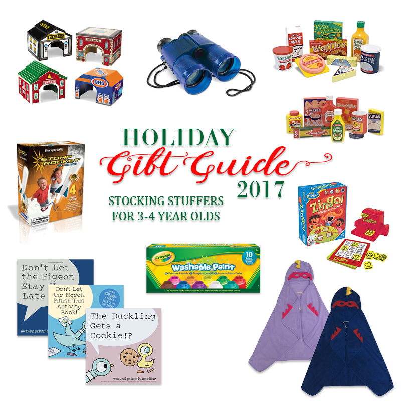 2017 Holiday Gift Guide - Stocking Stuffers for 3 Year Olds to 4 Year Olds