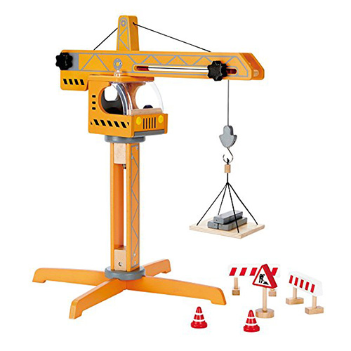 Hape Crane Lift Wooden Construction Set