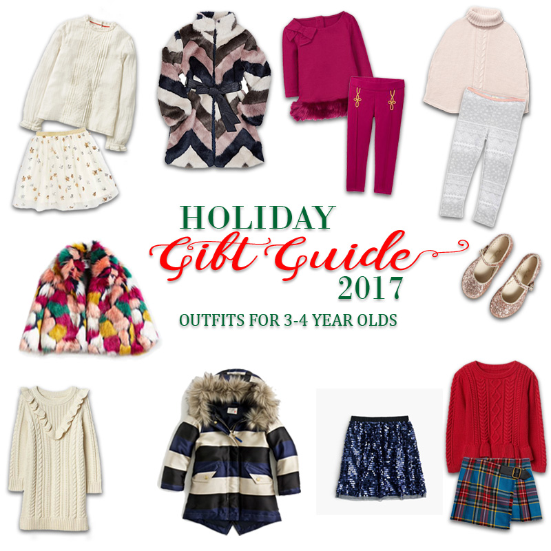 2017 Holiday Gift Guide - Outfits for 3 Year Olds to 4 Year Olds for Her