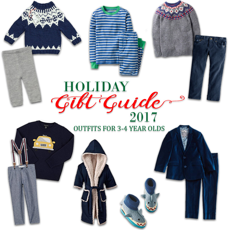 2017 Holiday Gift Guide - Outfits for 3 Year Olds to 4 Year Olds for Him