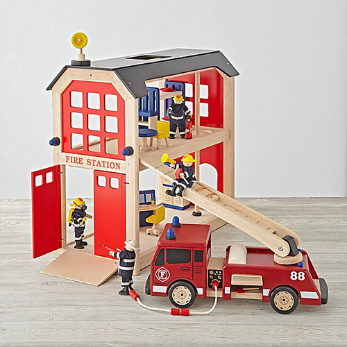 Land Of Nod Everything But The Dalmation Firehouse Set