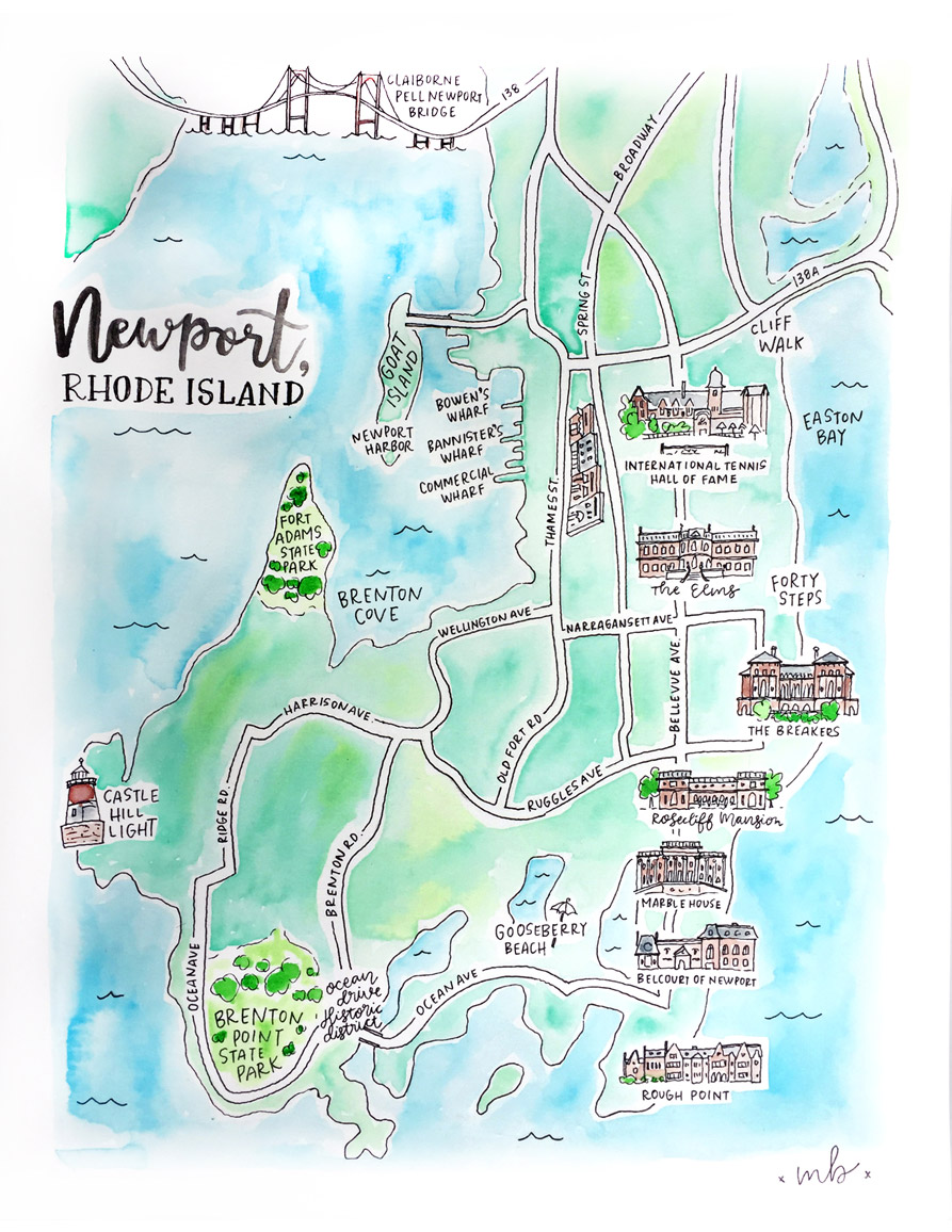 Map Of Newport Rhode Island