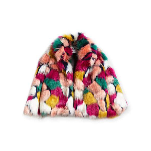 Milly Minis Multi Faux Fur Jacket