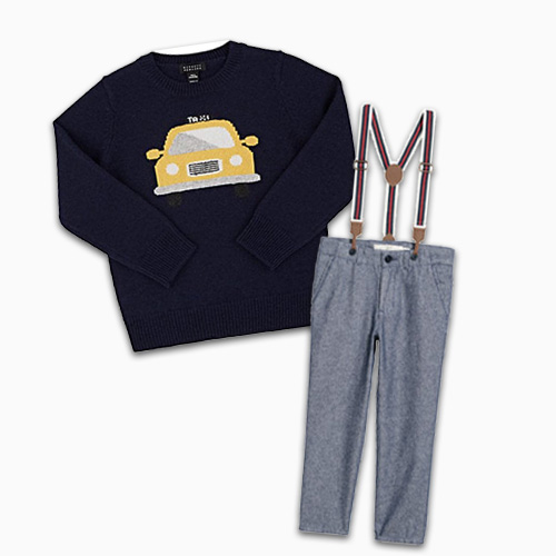 Taxi Sweatshirt And H&m Pants With Suspenders