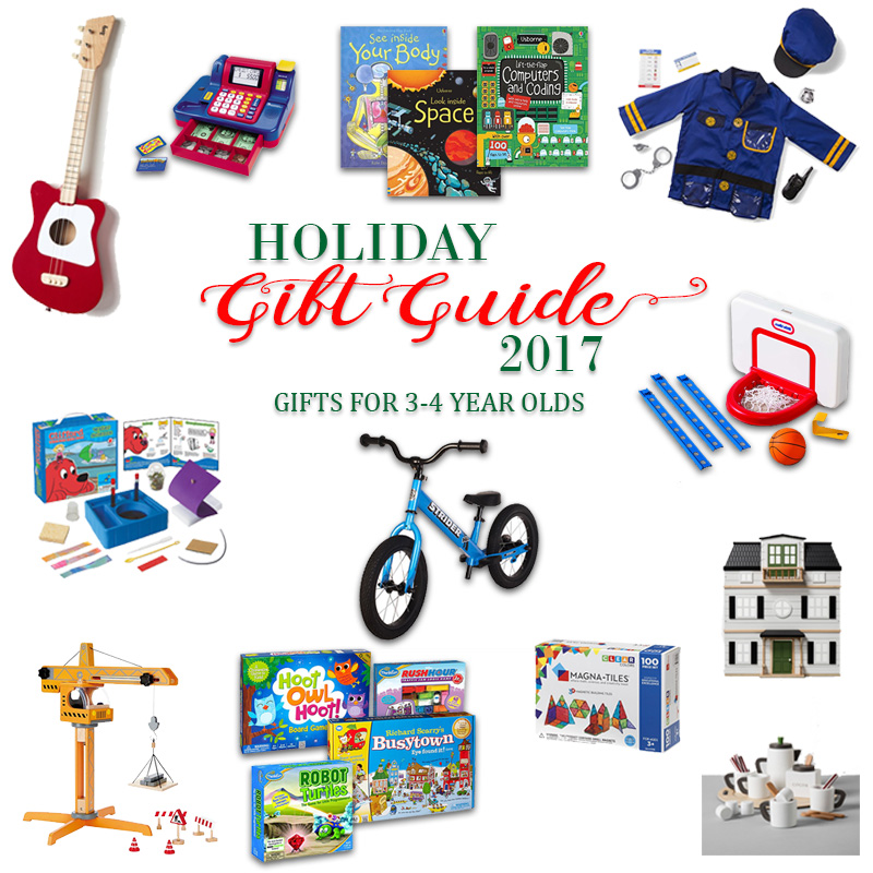 2017 Holiday Gift Guide - Gifts for 3 Year Olds to 4 Year Olds