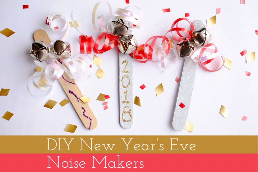 DIY New Year's Eve Noise Makers