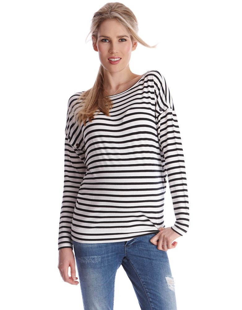 Seraphine Striped Side Snap Top