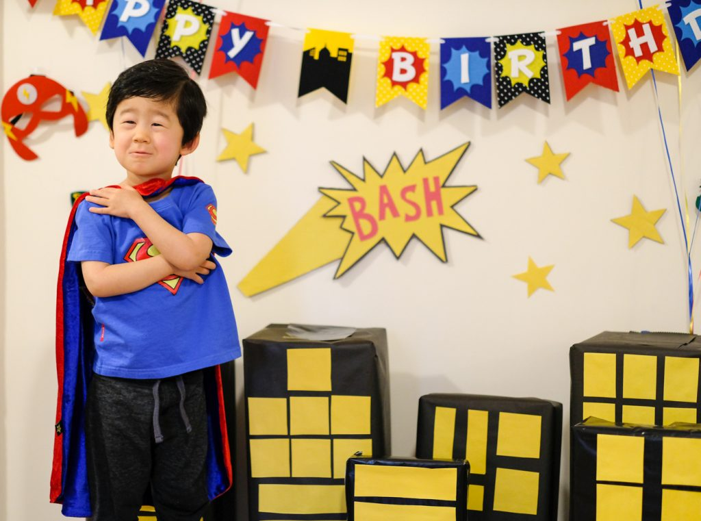 Bash's 3rd Birthday: A Superhero Bash