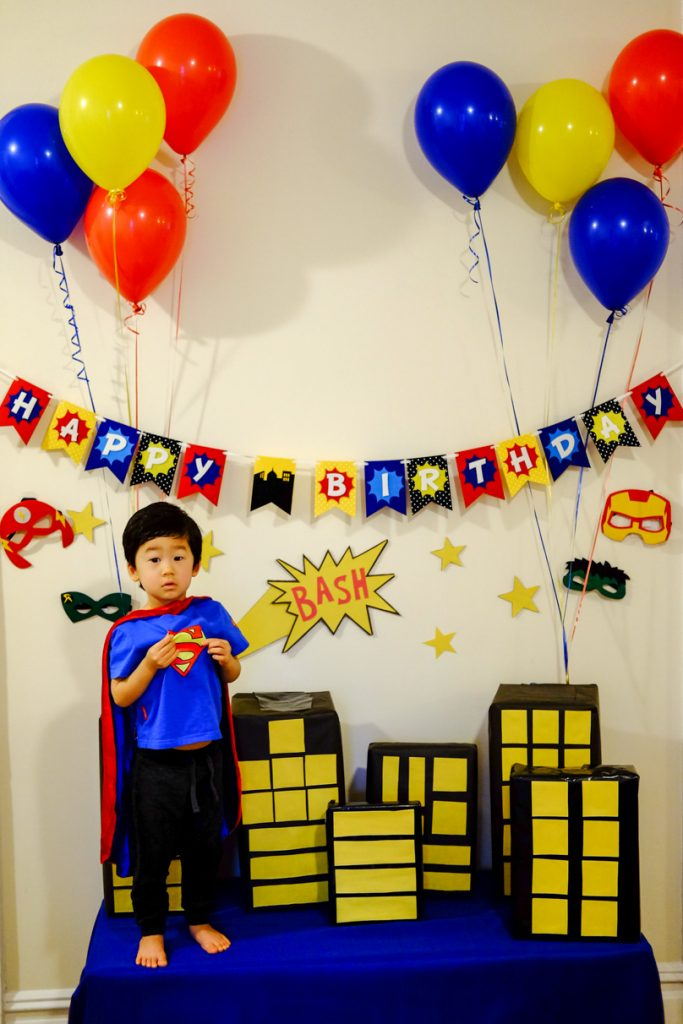 Superhero 3rd Birthday Bash