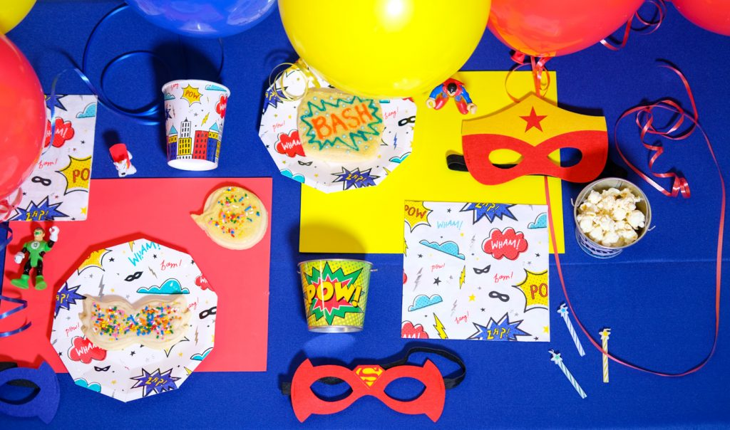 Superhero Tablescape And Cookies