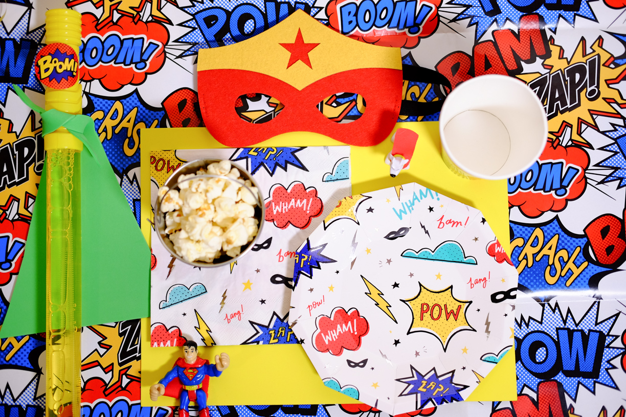 Superhero Tablescape