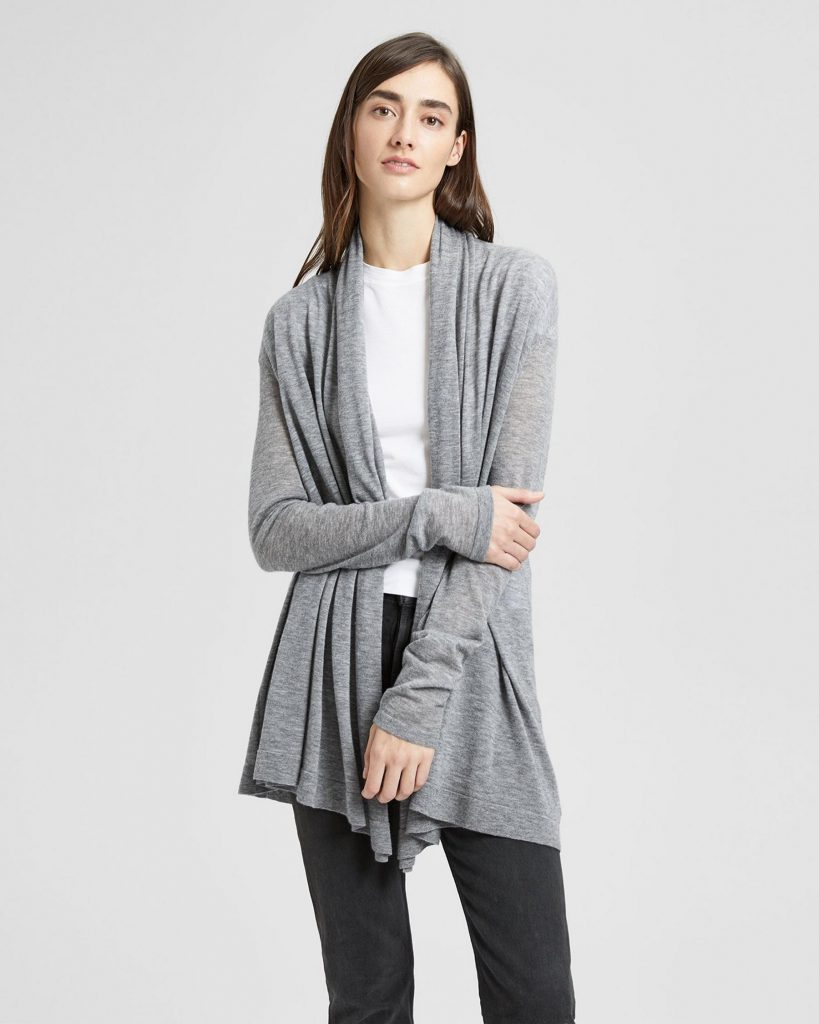Theory Cashmere Open Front Cardigan