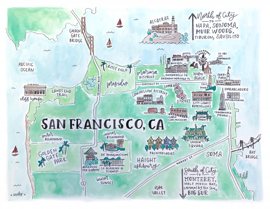 San Francisco Map - Travel Guide with Kids