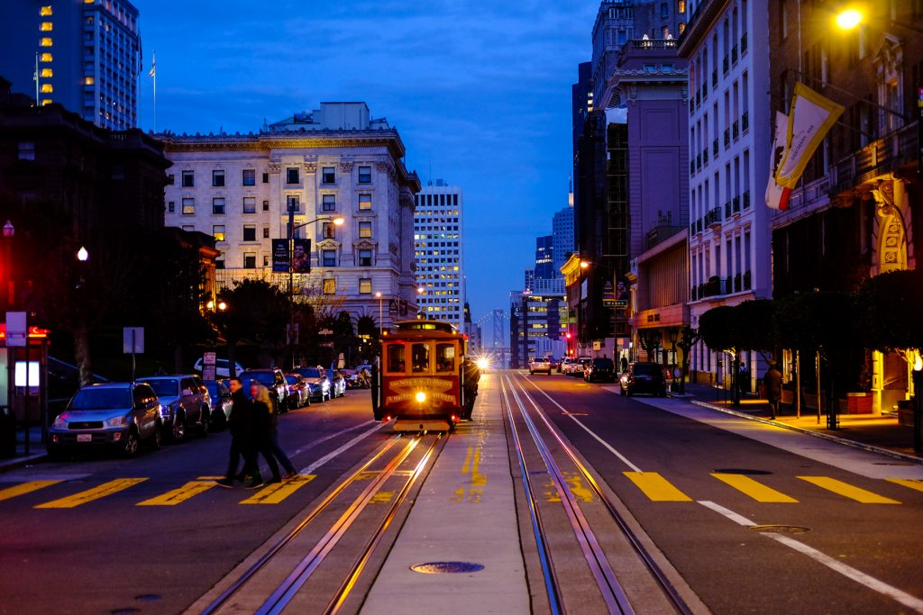 San Francisco Travel With Kids - Nightime Trolley Ride