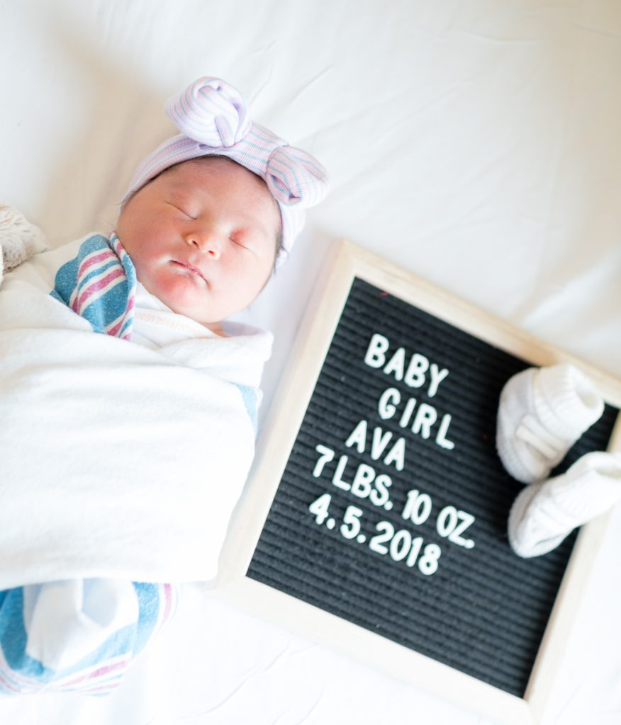 Welcome Baby Ava – Birth Story and Photos