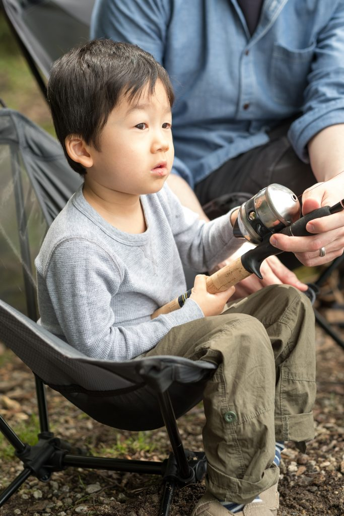 Camping With Kids Fishing with a preschooler