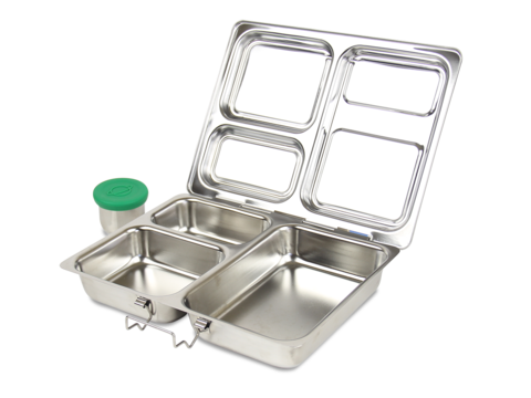 Planetbox Launch Stainless Steel Lunchbox Silicone Tall Dipper Outside Lunchbox Large