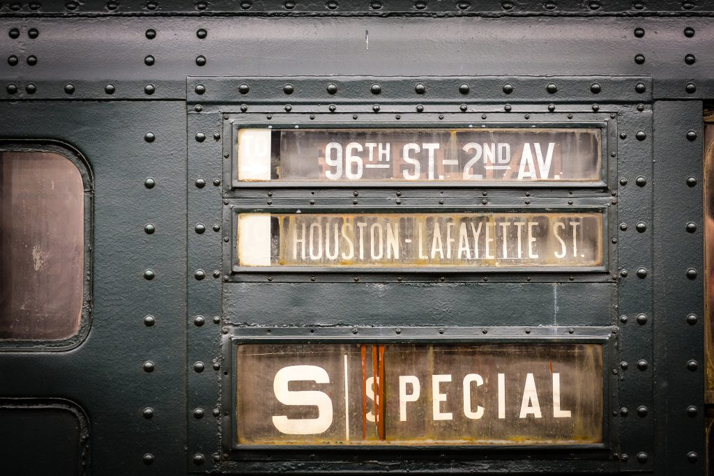 Vintage subway cars