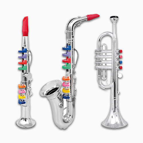 Set Of 3 Music Clarinet Saxophone 1