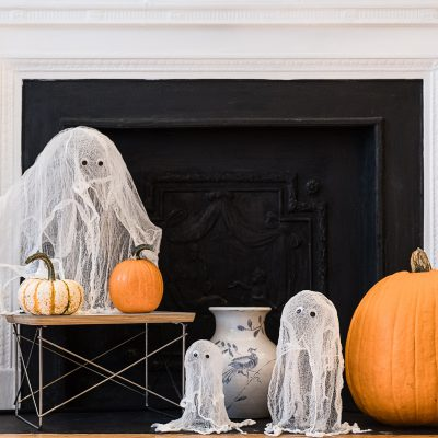 Halloween Crafts for Kids: Cheesecloth Ghosts